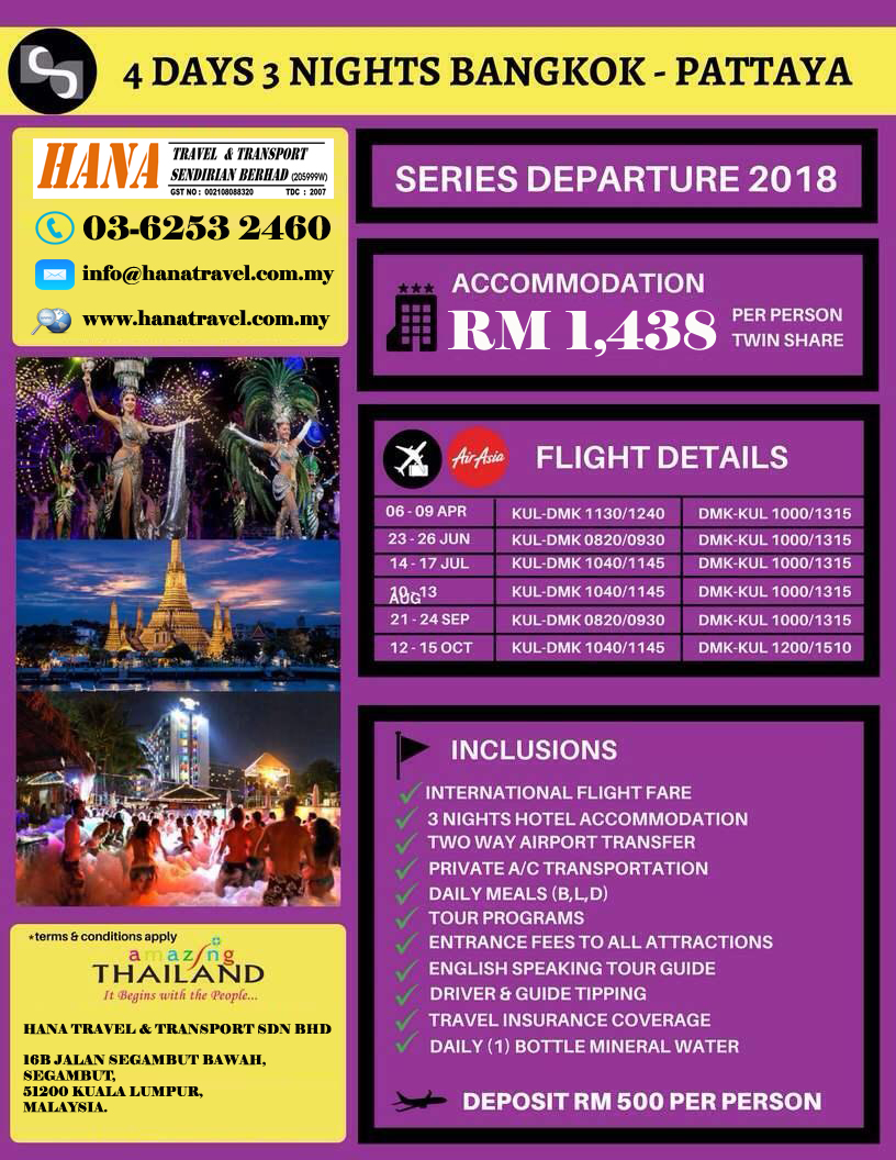 Info Harga Bangkok Pattaya 4d 3n Start Surabaya Update 2018 The Little Things She Needs Granna Grey White Tsn0001340c3567 Abu Muda 39 Tour Packages Hana Travel Transport Sdn Bhd View More